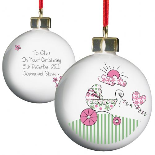 Personalised Whimsical Pram Bauble